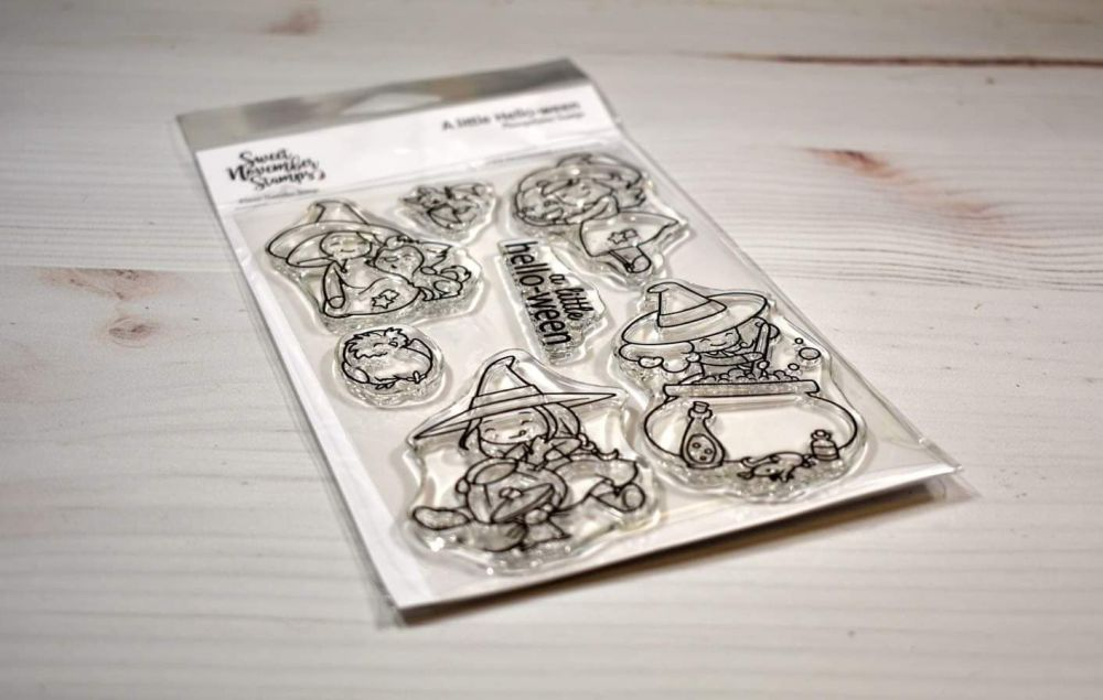 ****NEW****Sweet November - Witchwees A Little Hello-ween Clear stamp set