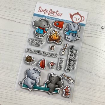 ***NEW*** Time For Tea - Life's Ups and downs clear stamp set