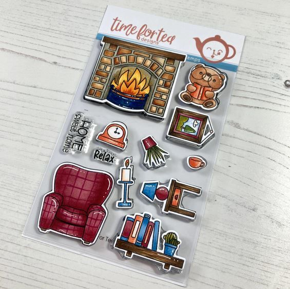 ***NEW*** Time For Tea - Home sweet home clear stamp set