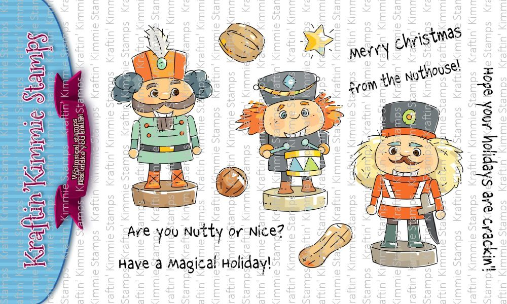 ***NEW*** Kraftin' Kimmie - A Crackin' Holiday! clear stamp set