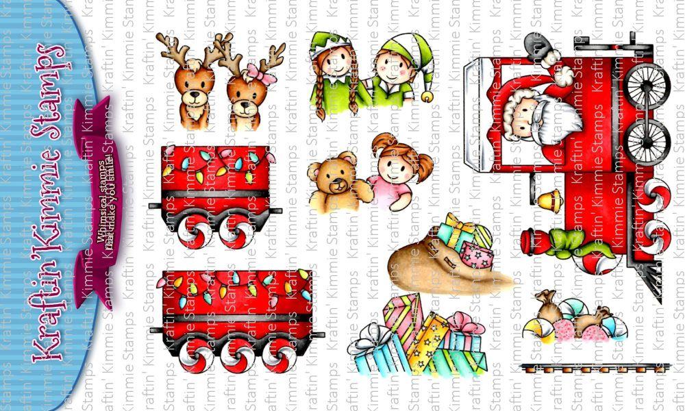 ***NEW*** Kraftin' Kimmie - Santa's Ride clear stamp set