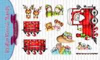 Kraftin' Kimmie - Santa's Ride clear stamp set