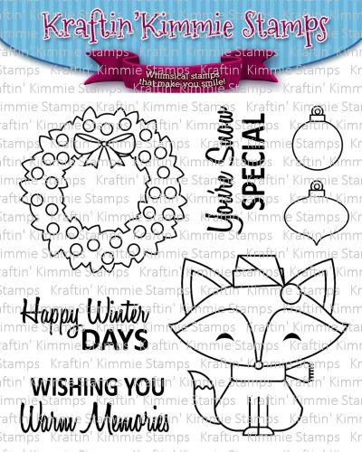 Kraftin' Kimmie - Happy Winter Days! clear stamp set