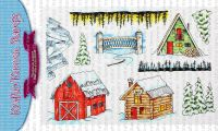 Kraftin' Kimmie - Winter Scenery! clear stamp set