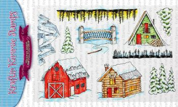 **NEW** Kraftin' Kimmie - Winter Scenery! clear stamp set