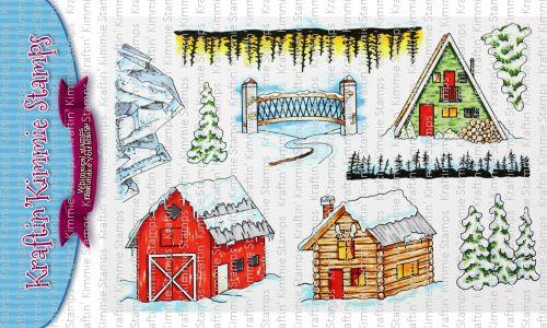 ***NEW*** Kraftin' Kimmie - Winter Scenery! clear stamp set