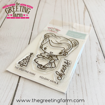 Holiday Anya 8 clear stamp set - The Greeting Farm