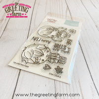 Star couple clear stamp set - The Greeting Farm