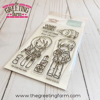 Warm Wishes clear stamp set - The Greeting Farm