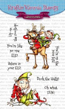 **NEW** Kraftin' Kimmie - Believe in Your ELF! clear stamp set