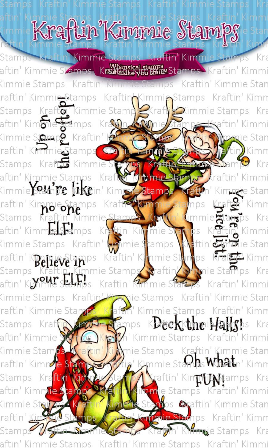 ***NEW*** Kraftin' Kimmie - Believe in Your ELF! clear stamp set