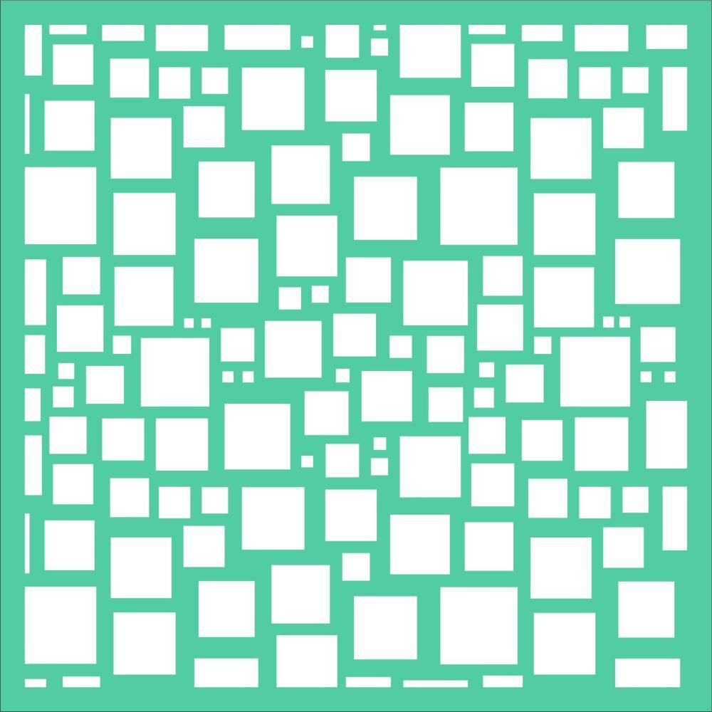 Squared Stencil - Funky Fossil
