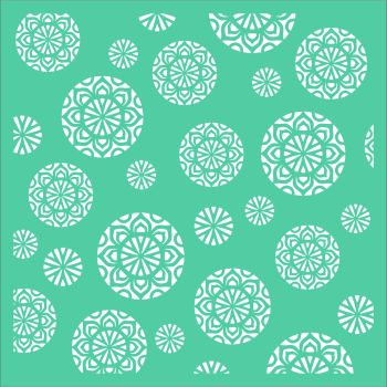 Mandala Circle Background Stencil - Funky Fossil