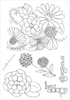 ***NEW***Hello Gorgeous A5 stamps - Funky Fossil