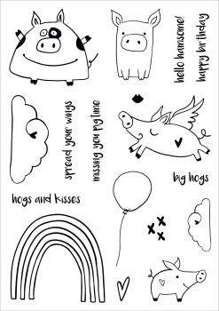 ***NEW***Hogs & Kisses A5 stamps - Funky Fossil