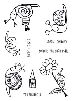 Snail Mail A6 stamps - Funky Fossil