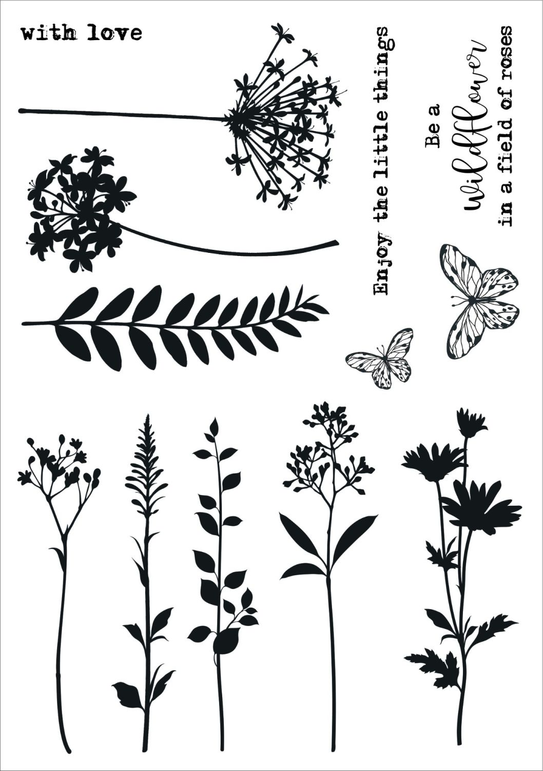 In the Meadow A5 stamps - Funky Fossil