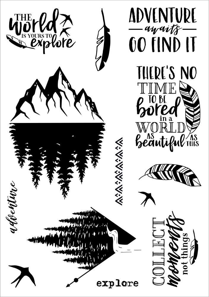 Adventure A5 stamps - Funky Fossil