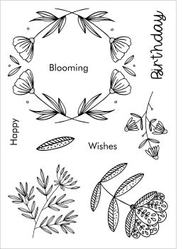 Blooming Birthday A6 stamps - Funky Fossil