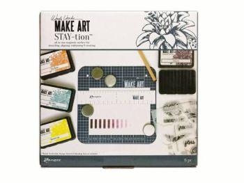 "Make art STAY-tion - 7""x7"""