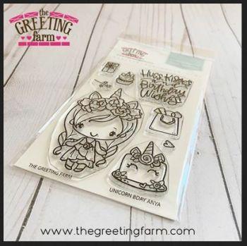 Unicorn Bday clear stamp set - The Greeting Farm