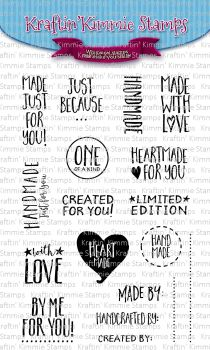***NEW*** Kraftin' Kimmie - Handmade Sentiments! clear stamp set