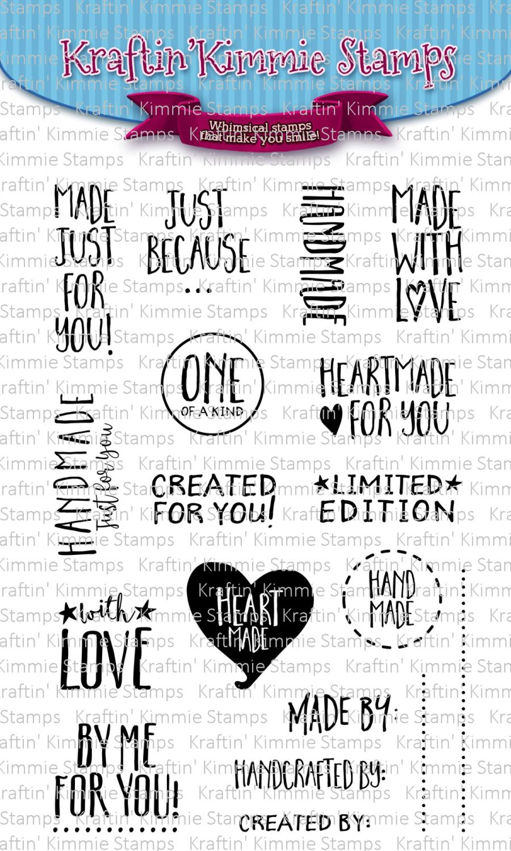 ***NEW*** Kraftin' Kimmie - Handmade Sentiments! clear stamp set