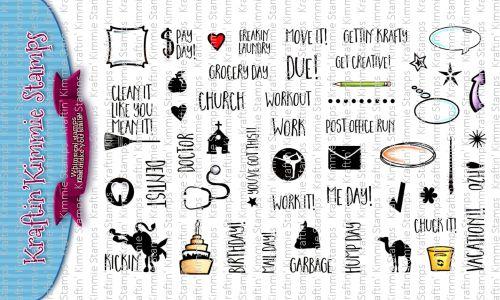 ***NEW*** Kraftin' Kimmie - Planner Doodles! clear stamp set