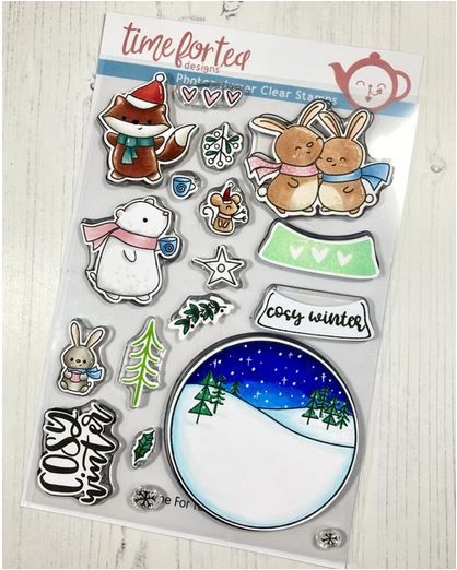 ***NEW*** Time For Tea - A5 Cosy Winter clear stamp set