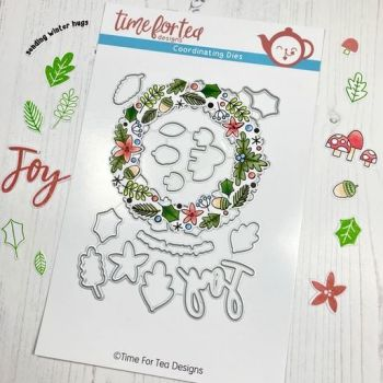 Time For Tea - A5 Winter Wishes Wreath Coordinating Dies