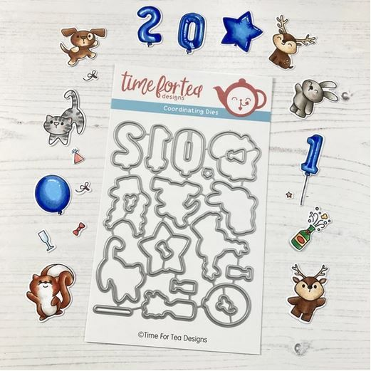 ***NEW*** Time For Tea - Happy New Year Critters Coordinating Die set