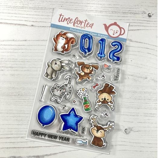 ***NEW*** Time For Tea - Happy New Year Critters Clear Stamp Set