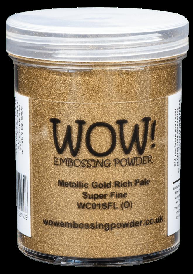 Metallic Gold Rich Pale Large 160ml pot