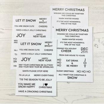 Time For Tea - Sentiment Cards - Winter Wonderland | White