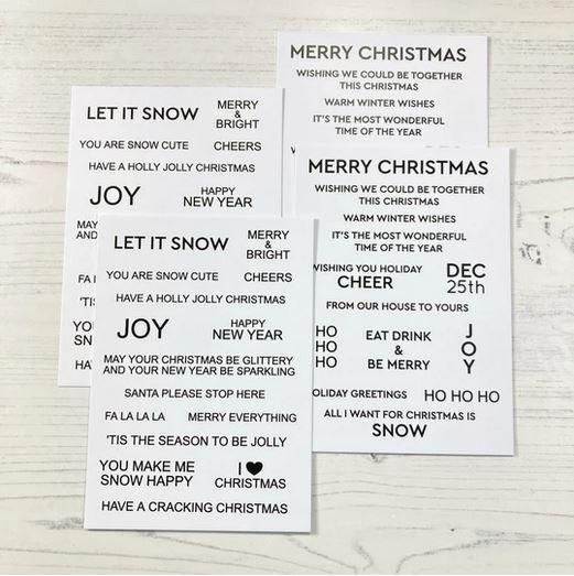 ***NEW*** Time For Tea - Sentiment Cards - Winter Wonderland | White