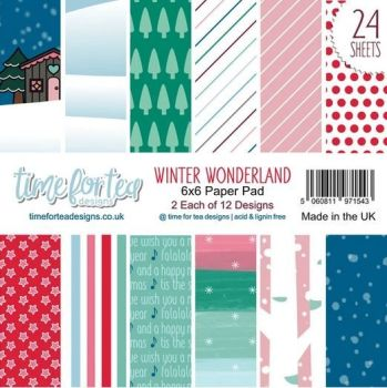 ***NEW*** Time For Tea - Winter Wonderland Paper Pad 6x6""