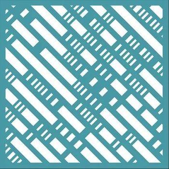Diagonal Geometrics Stencil - Funky Fossil