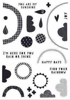 Find Your Rainbow A5 stamps - Funky Fossil