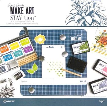 "Make art STAY-tion - 12""x12"""