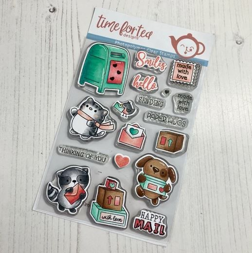 ***NEW*** Time For Tea - Happy Mail Critters Clear Stamp Set