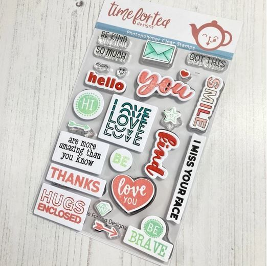 ***NEW*** Time For Tea - Be Kind Be You Clear Stamp Set