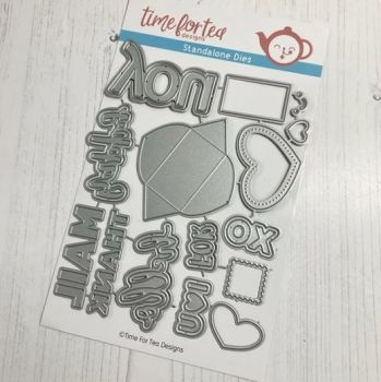 ***NEW*** Time For Tea - Happy Mail Gift Card Holder Add On Die set
