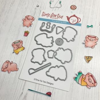 ***NEW*** Time For Tea - Workout Pigs Coordinating Die set