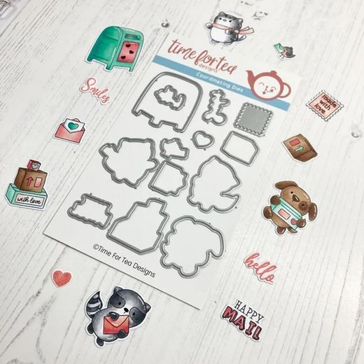 ***NEW*** Time For Tea - Happy Mail Critters Coordinating Die set