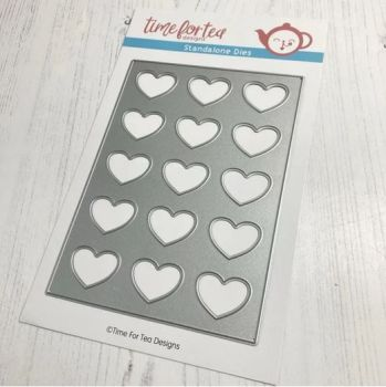 ***NEW*** Time For Tea - Lots Of Love Vertical Cover Plate Die