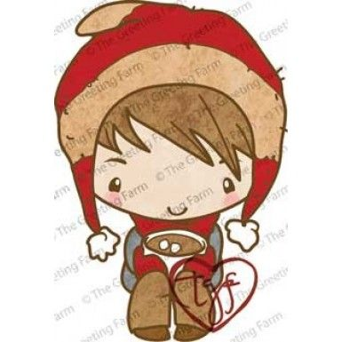Beanie Ian red rubber stamp