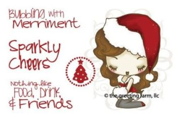 A Cheeky Xmas red rubber stamp