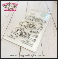 Miss Anya Fanny Pack clear stamp set - The Greeting Farm