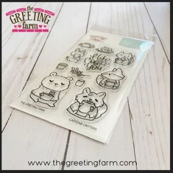 Caffeine Critters clear stamp set - The Greeting Farm