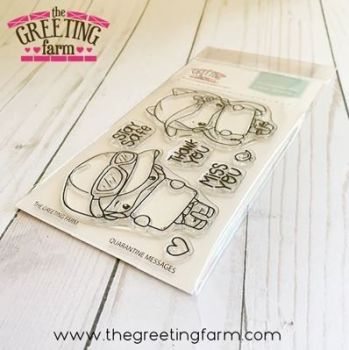 Quarantine Messages clear stamp set - The Greeting Farm
